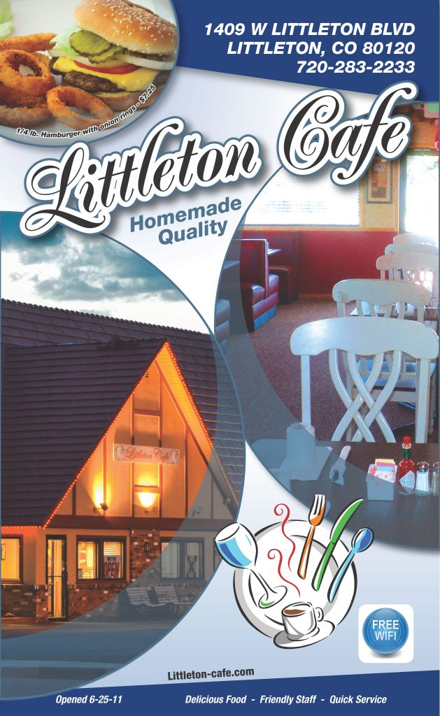 Littleton Cafe Menu Cover